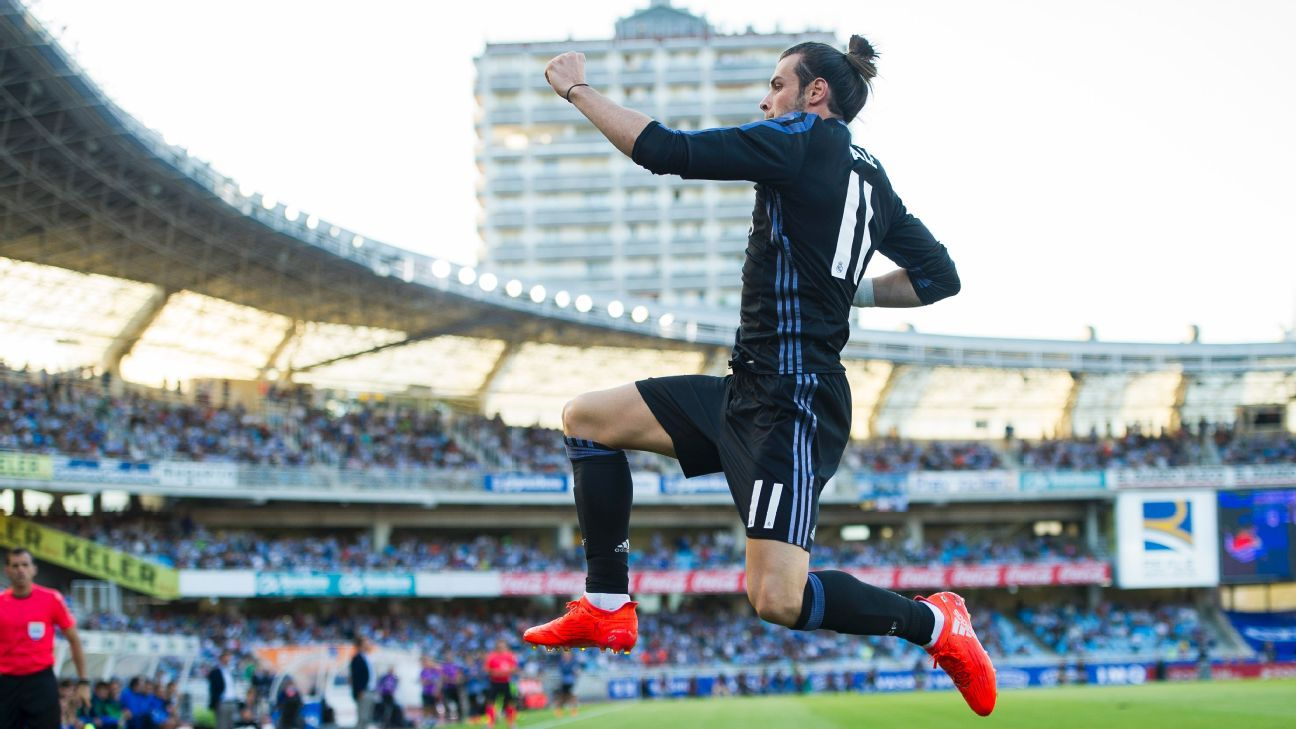 Gareth Bale Real Madrid celeb vs. Real Sociedad