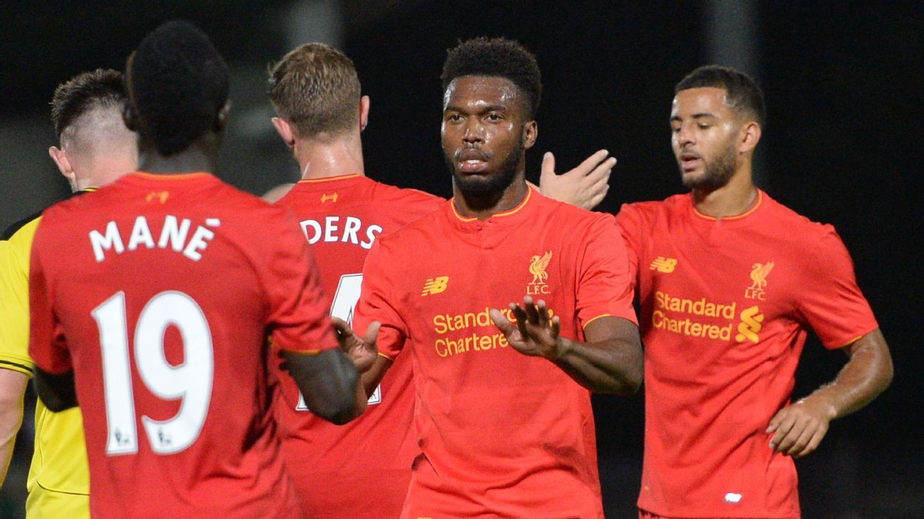 Daniel Sturridge found the net twice against Burton.