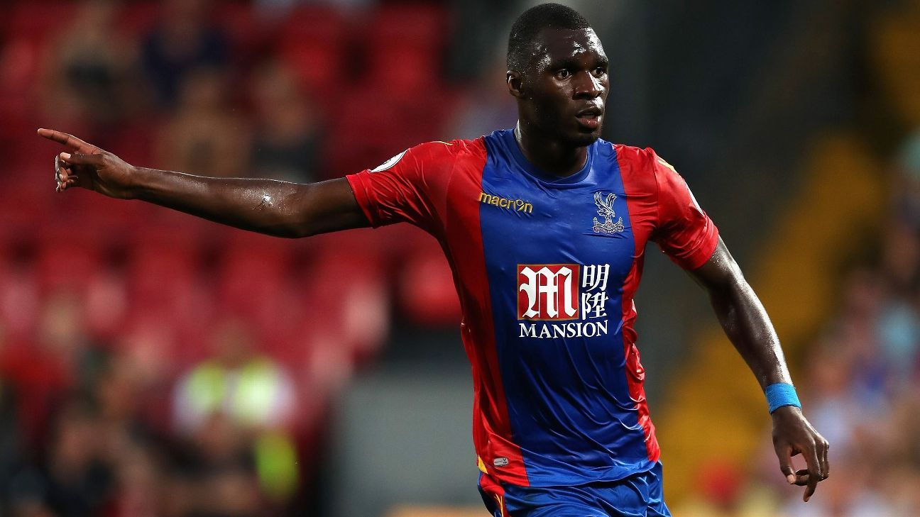 Christian Benteke of Crystal Palace in action on his debut.