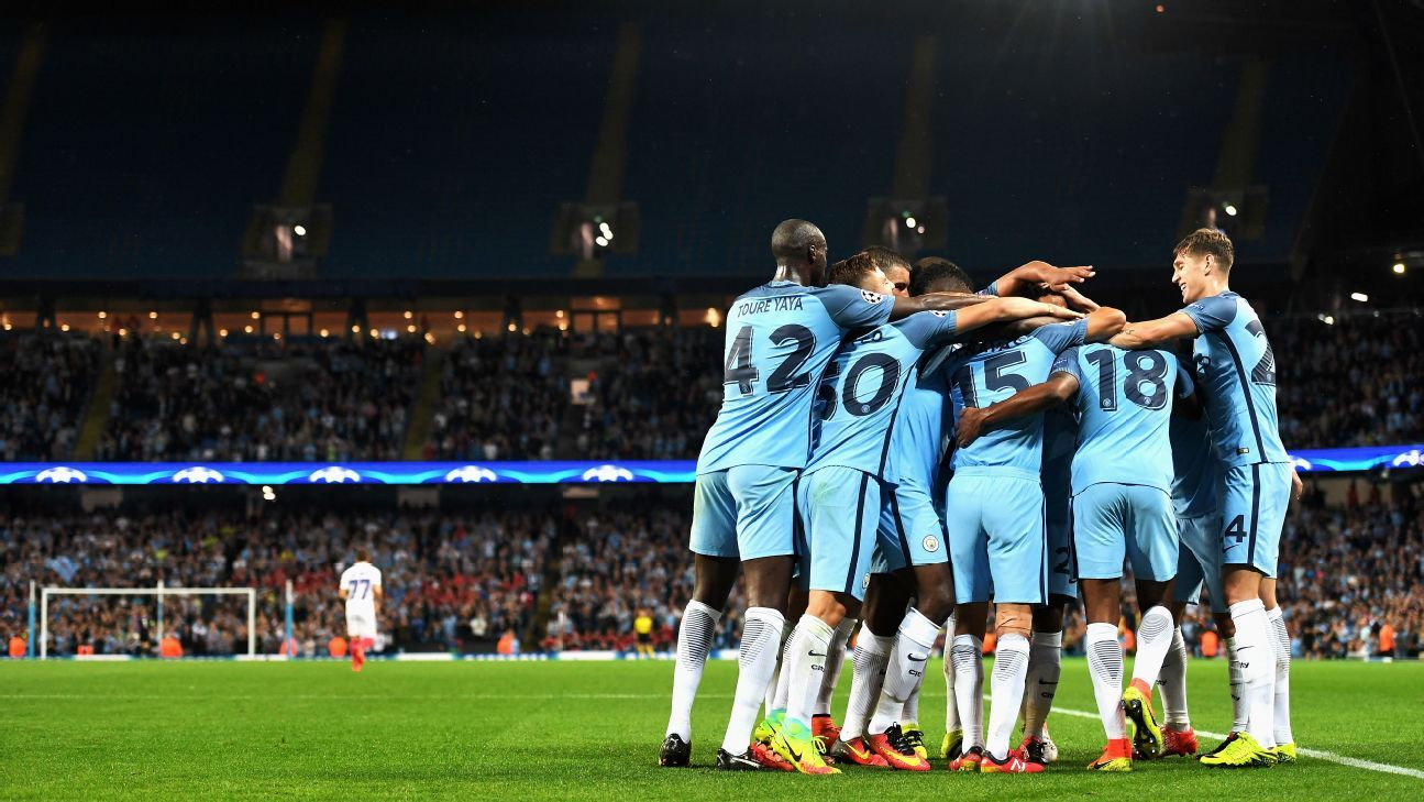 Manchester City cruised into the Champions League group stage with a 6-0 aggregate win.