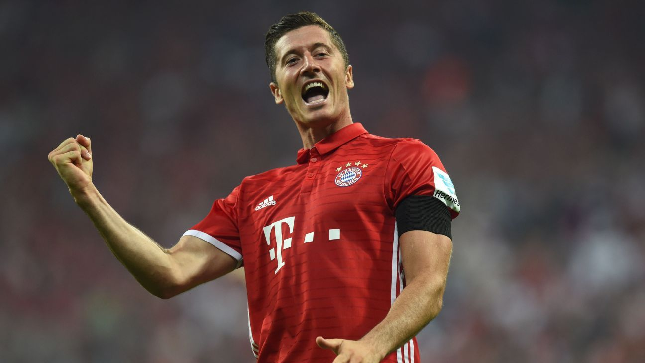 Robert Lewandowski reaches 50 goals for Bayern Munich in record