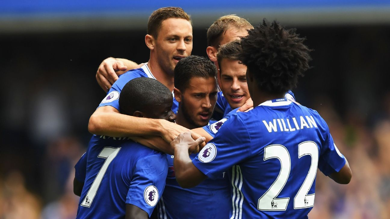 Chelsea group celebration