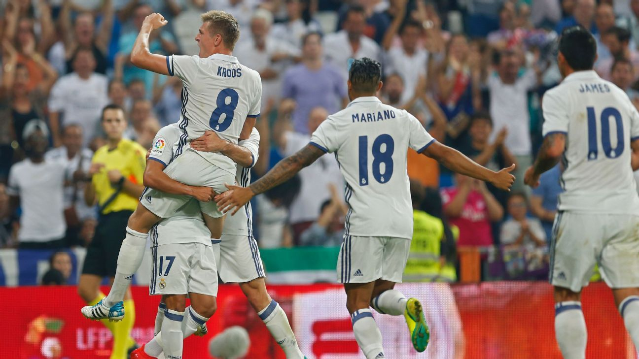 Toni Kroos scored the winner for Real Madrid on Saturday.