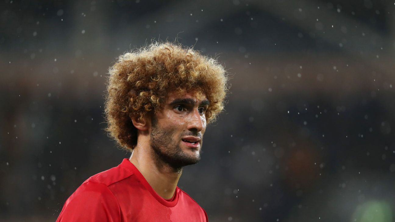 HULL, ENGLAND - AUGUST 27: Marouane Fellaini of Manchester United during the Premier League match between Hull City and Manchester United at KC Stadium on August 27, 2016 in Hull, England.