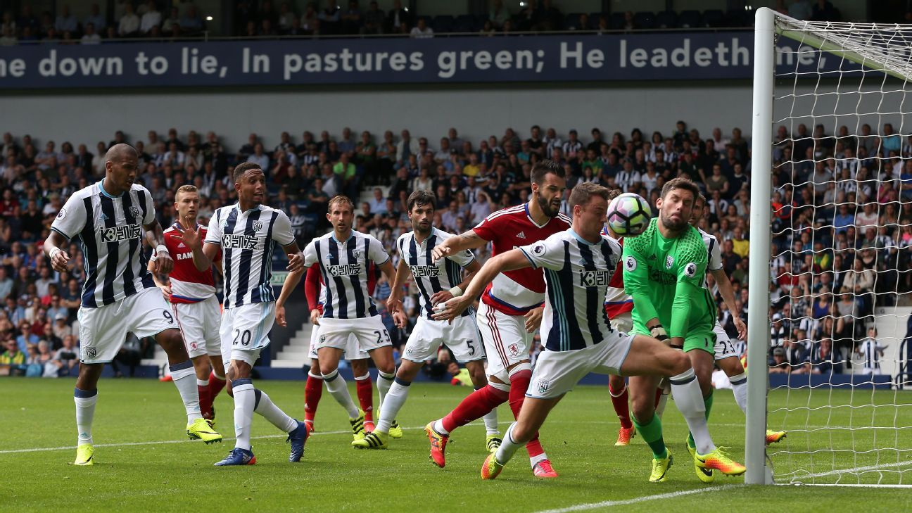 West Brom and Middlesbrough could not be separated on Sunday.
