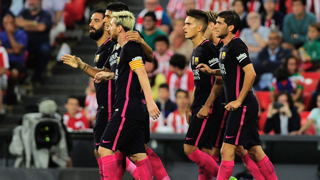 Barcelona marched to a second straight La Liga victory on Sunday.