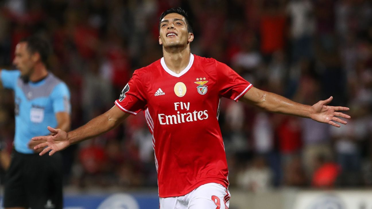 Benfica striker Raul Jimenez