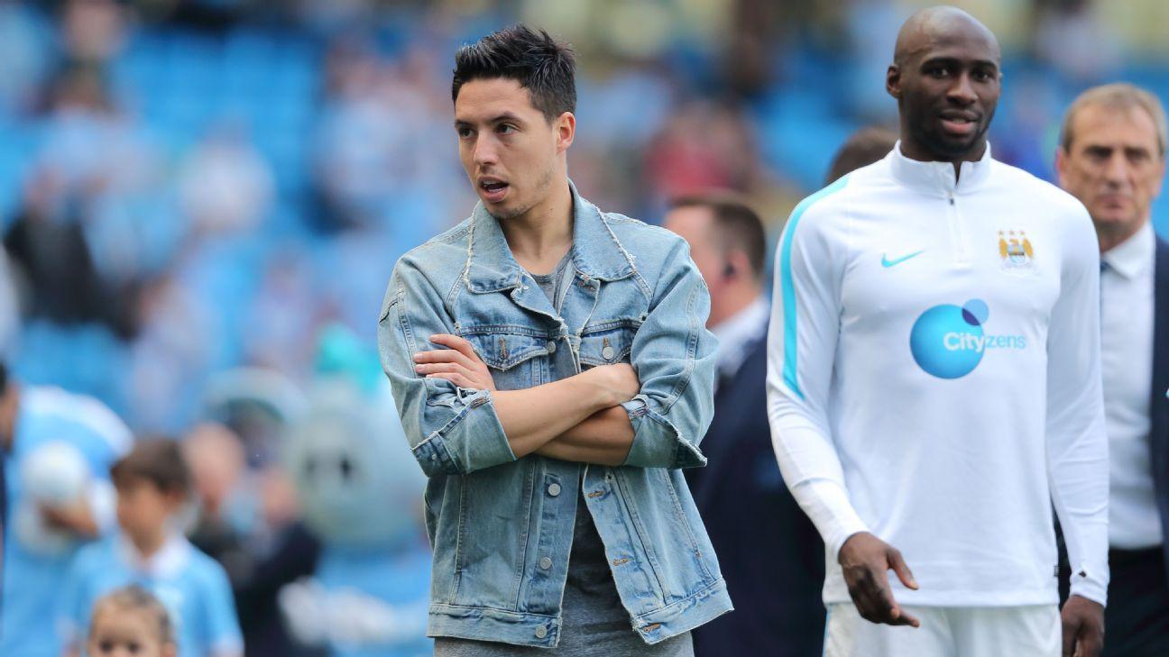 Manchester City midfielder Samir Nasri