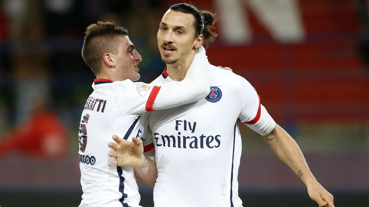 Marco Verratti and Zlatan Ibrahimovic