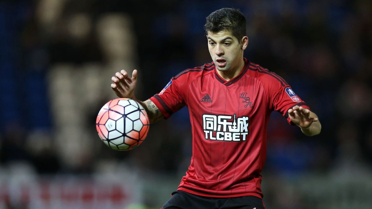 Cristian Gamboa of West Brom