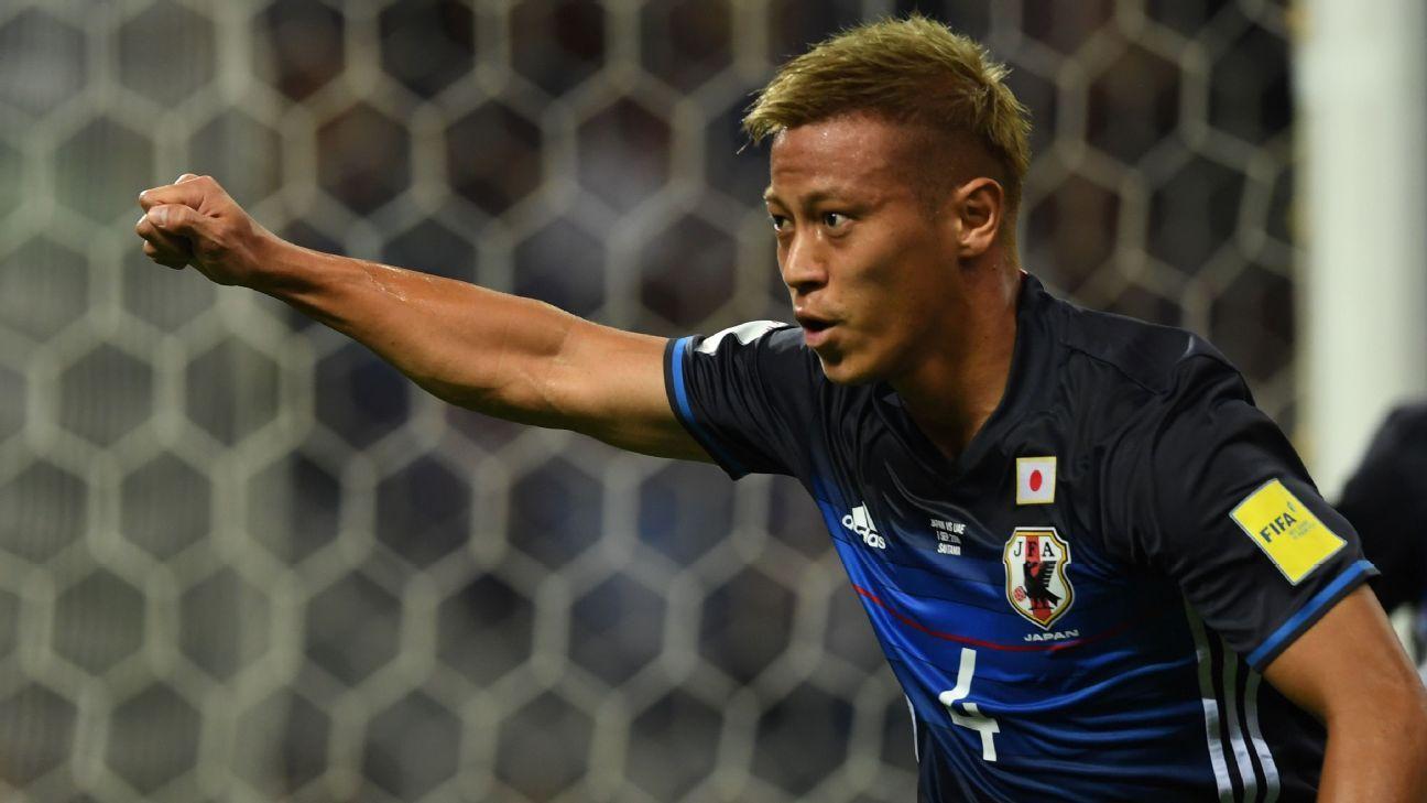 Japan midfielder Keisuke Honda
