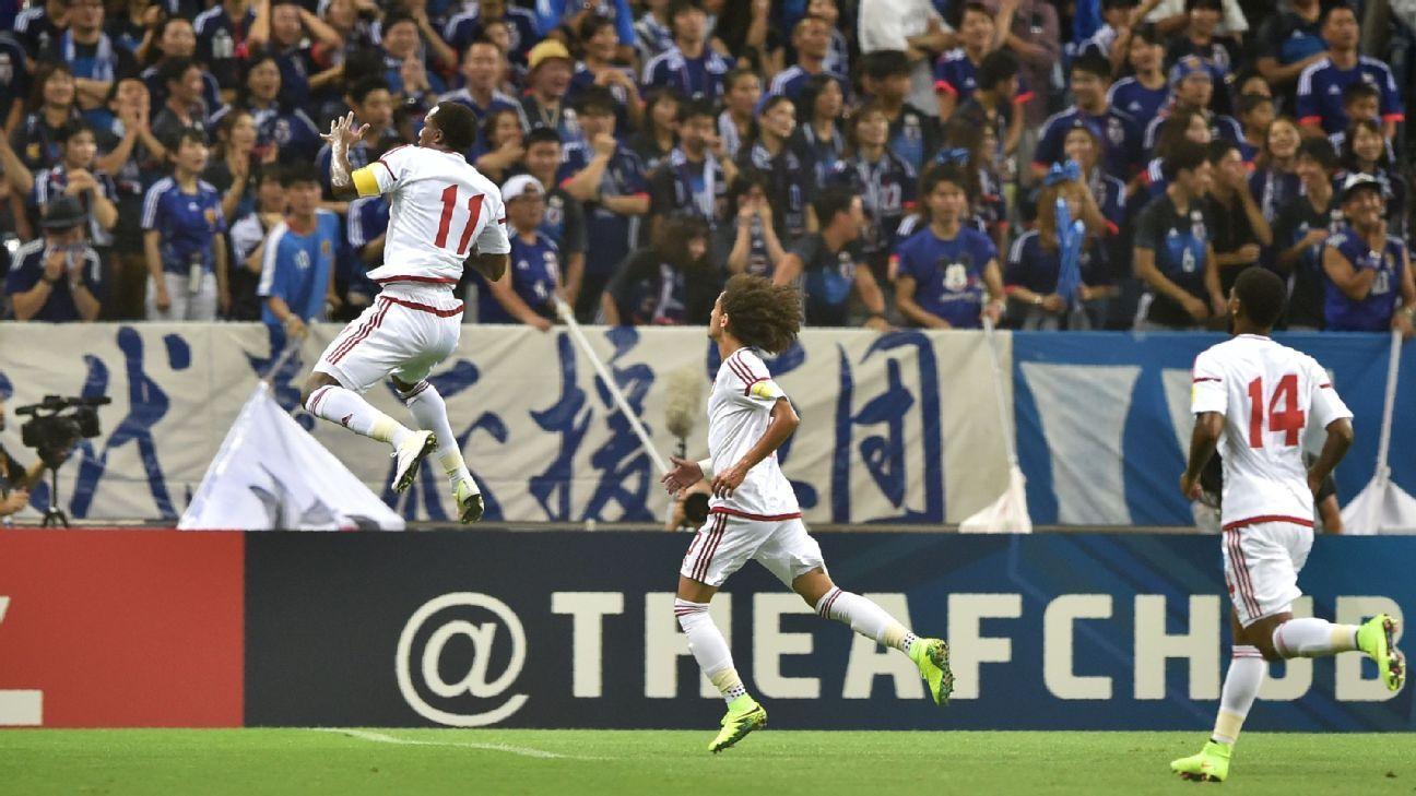 United Arab Emirates striker Ahmed Khalil