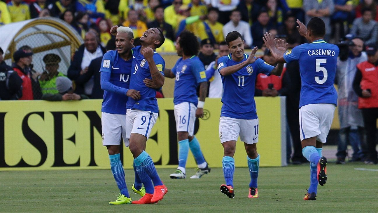 Gabriel Jesus and Neymar scored to give Brazil a vital victory over Ecuador.