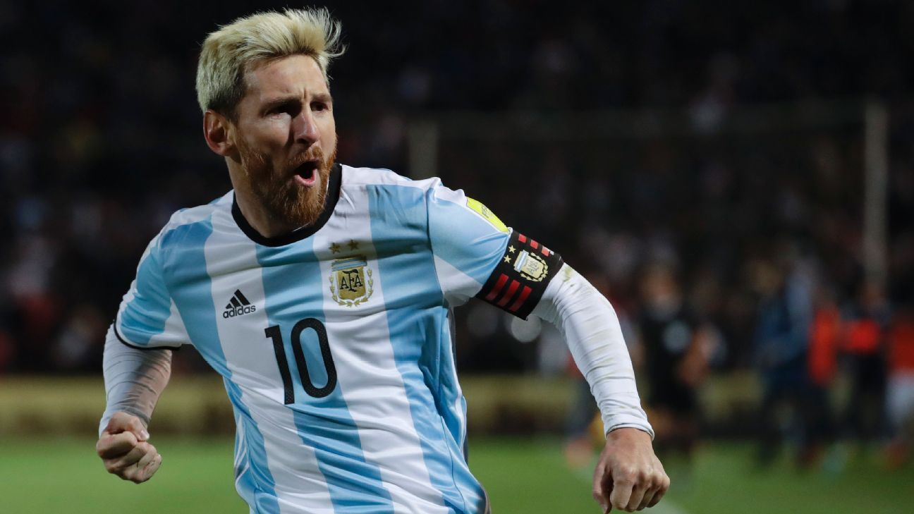 Messi Argentina return goal celeb