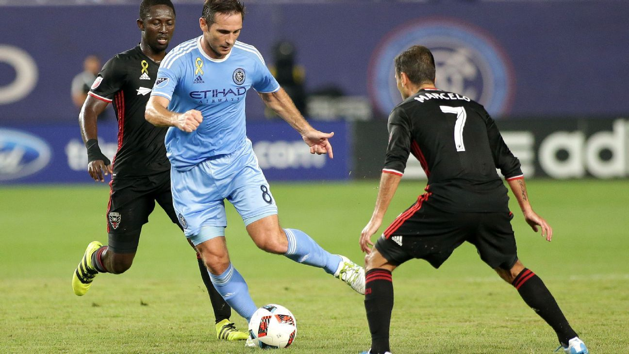 Frank Lampard scored a late winner against D.C. United to give NYCFC a 3-2 win.