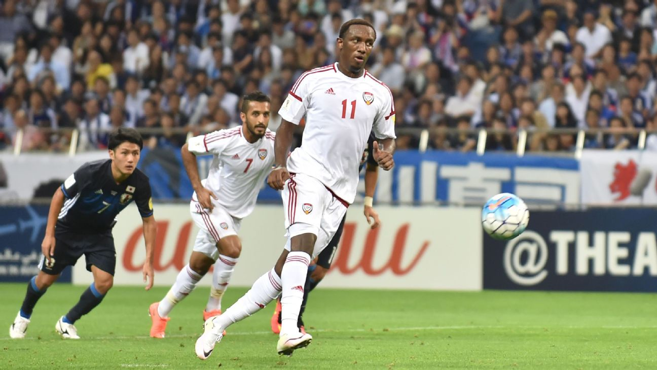 United Arab Emirates forward Ahmed Khalil