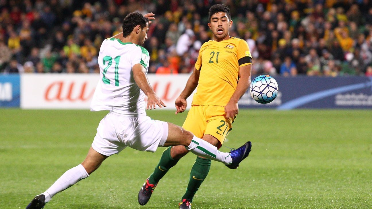 Australia midfielder Massimo Luongo