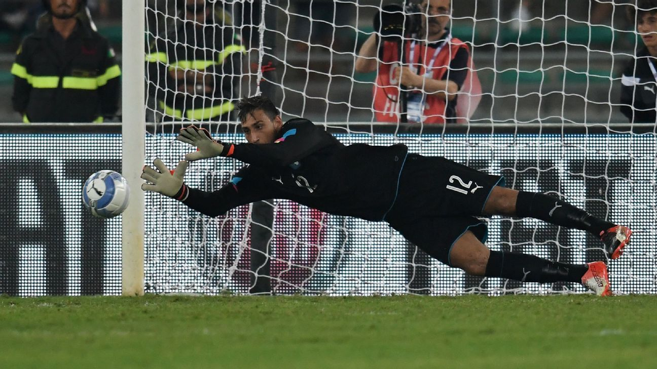 Gianluigi Donnarumma Italy debut