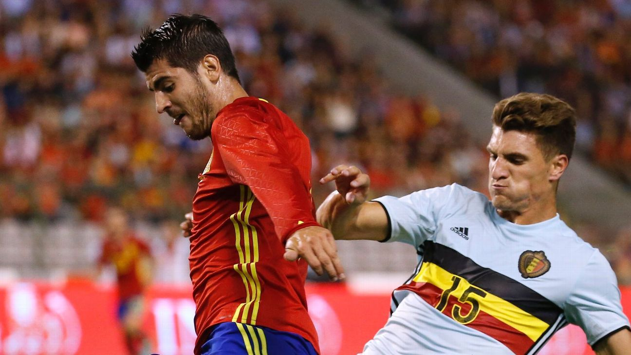Alvaro Morata Spain v Belgium 20160901