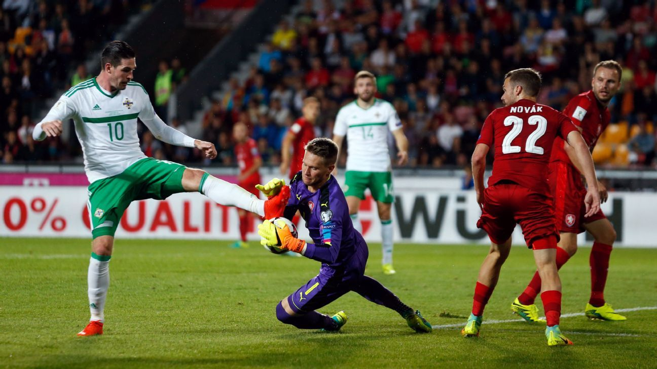 Northern Ireland couldn't breach the Czech Republic defence on Sunday.