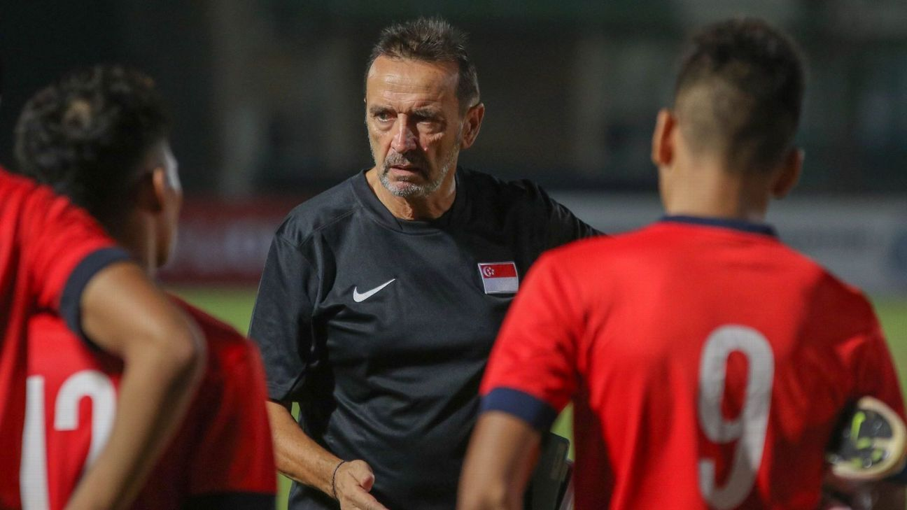 Singapore U21 coach Richard Tardy