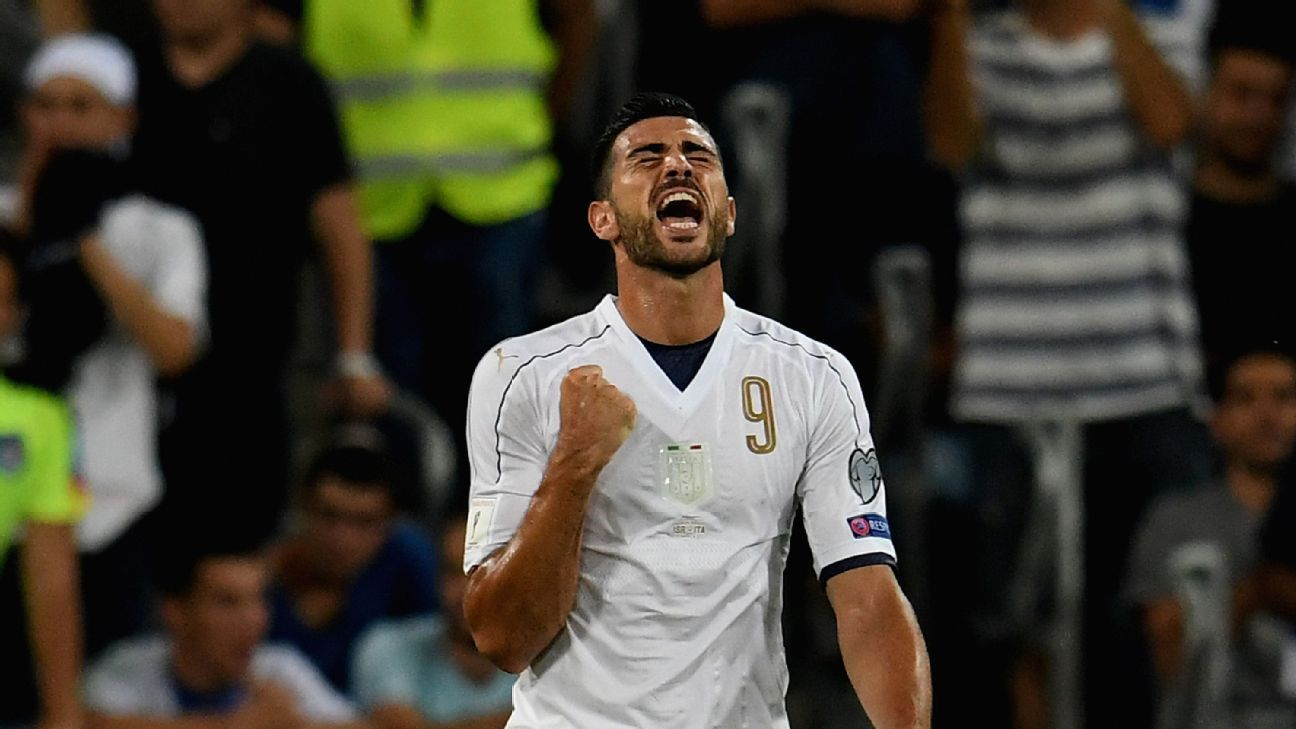 Graziano Pelle opened the scoring for Italy on Monday.