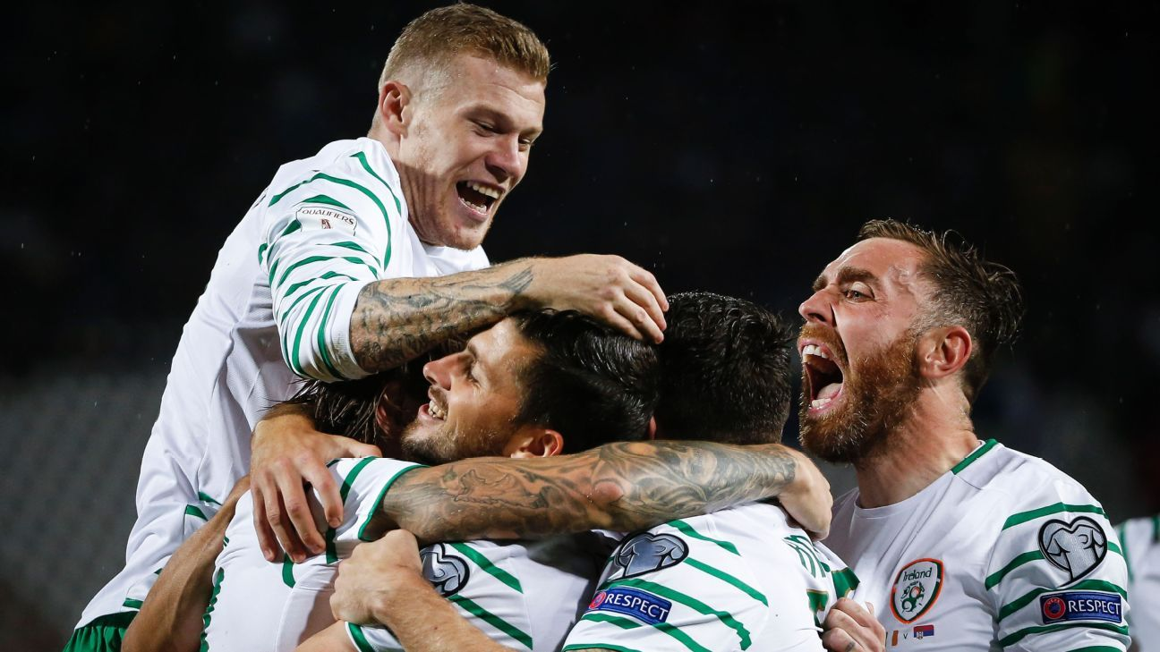 The Republic of Ireland snatched a late draw from Serbia on Monday.