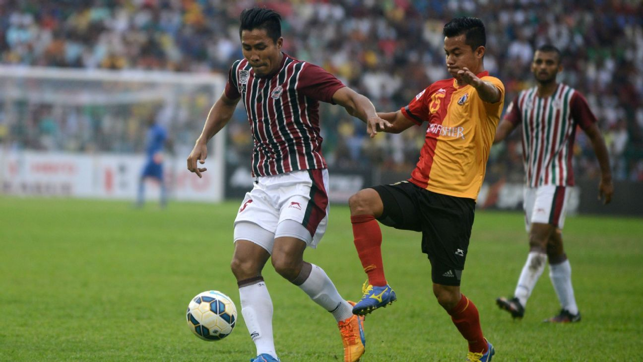 Mohun Bagan have had the benefit of turning up for the 39th Kolkata derby in the National Football League/I-League with two morale-boosting wins.