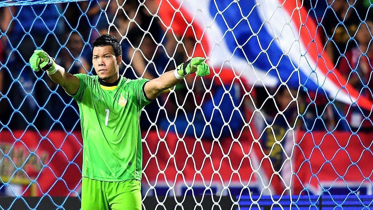 Thailand goalkeeper Kawin Thamsatchanan