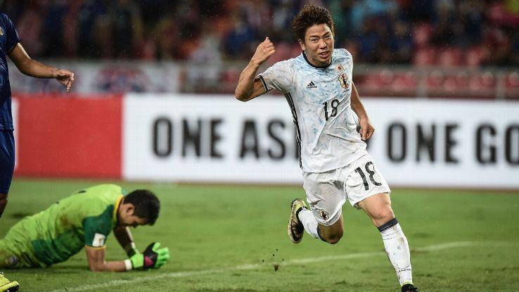 Japan forward Takuma Asano