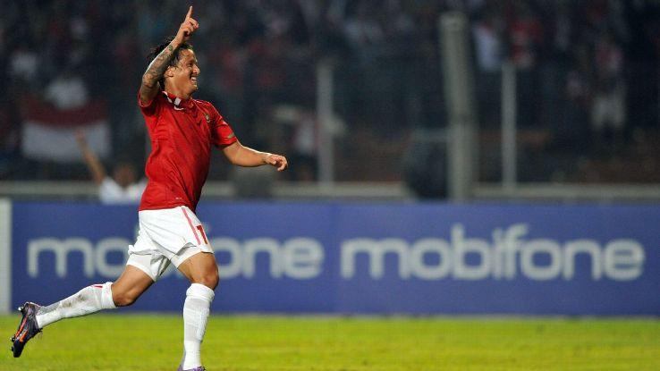 Indonesia forward Irfan Bachdim