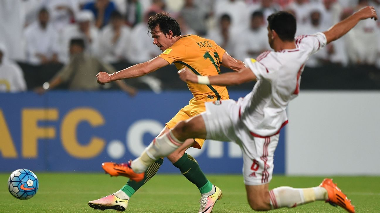 Australia forward Robbie Kruse