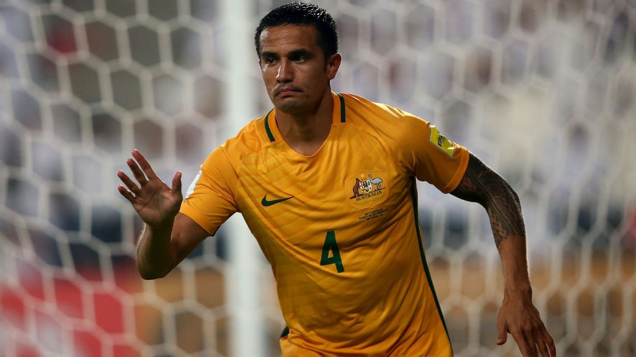 Australia midfielder Tim Cahill