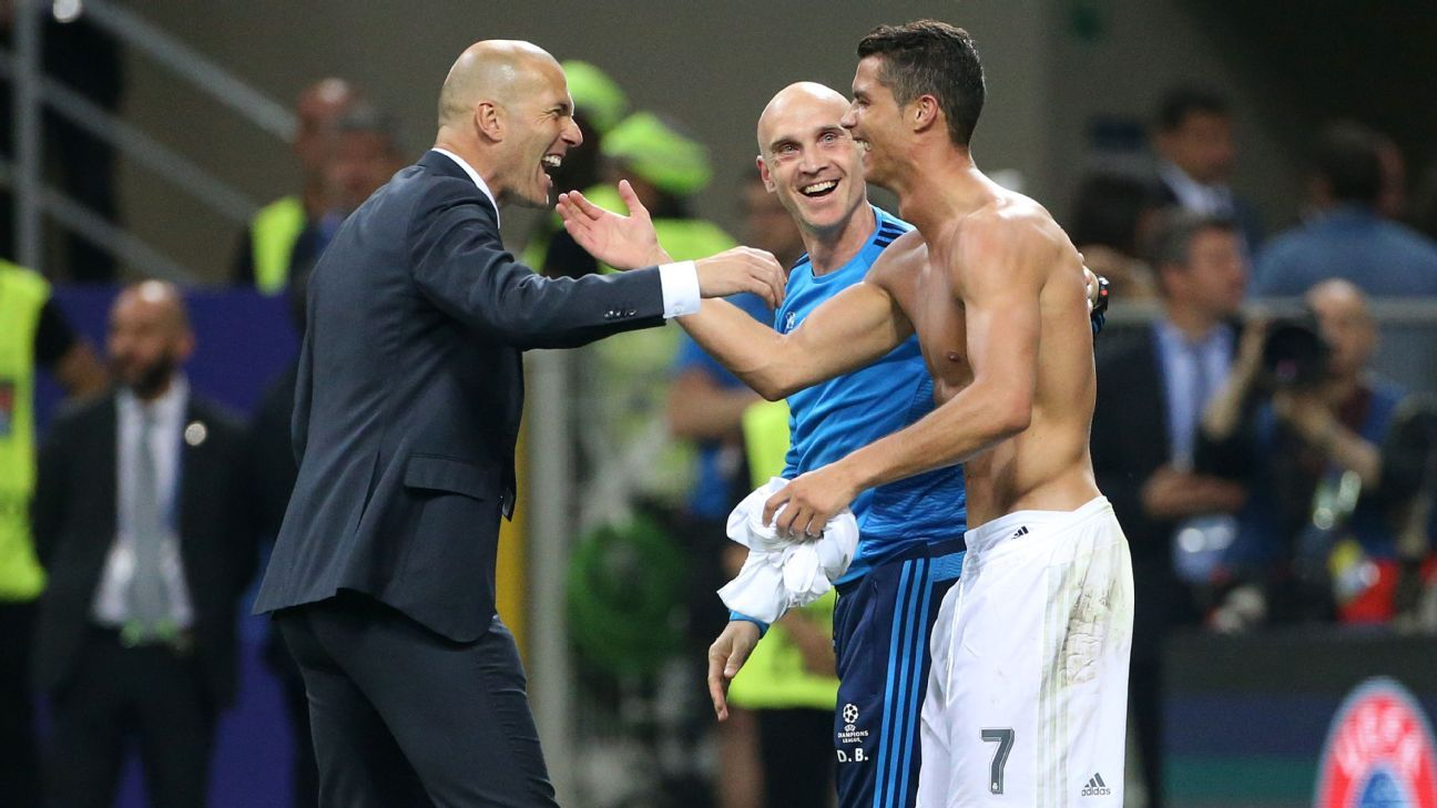 Image result for Zidane was behind one of my best seasons, says Ronaldo