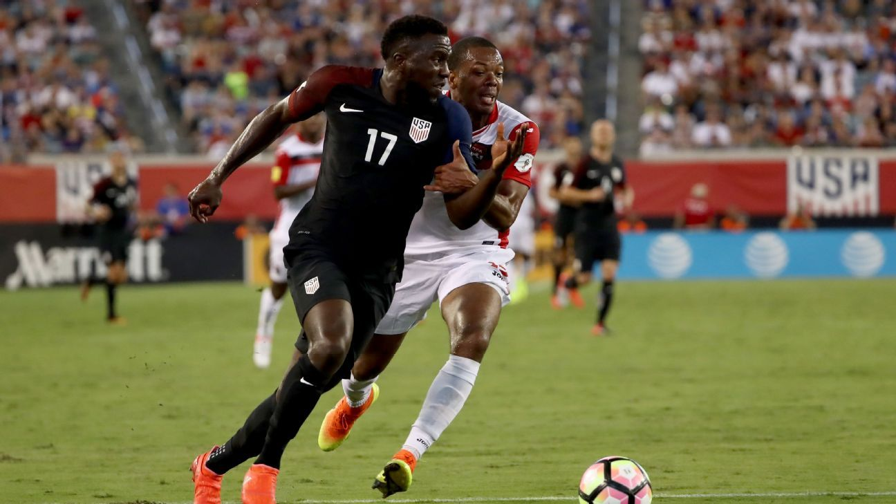 Jozy Altidore scored twice in a World Cup qualifying win against Trinidad and Tobago.