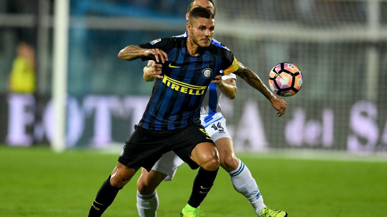 Mauro Icardi scored twice as Inter Milan rallied to beat Pescara for their first Serie A win of the season.