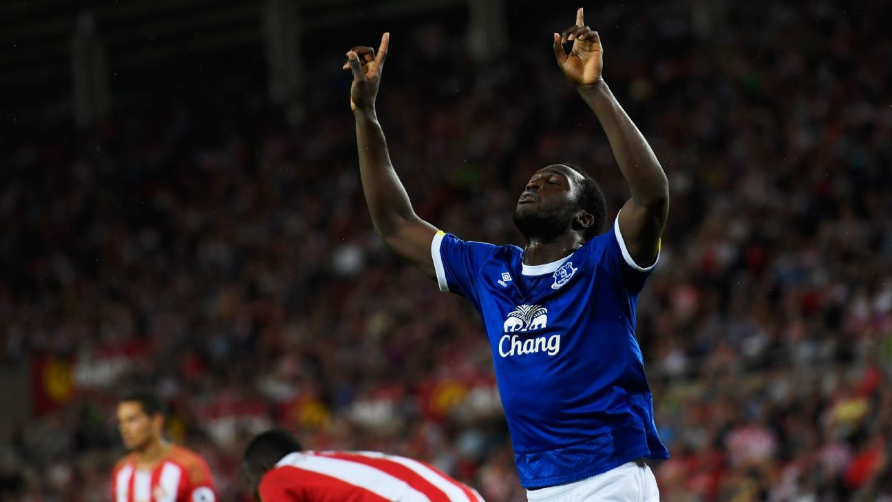 Romelu Lukaku had much to celebrate in Everton's 3-0 defeat of Sunderland.