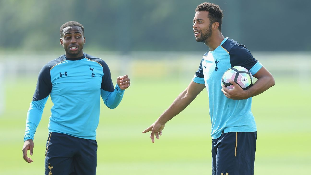 Danny Rose and Mousa Dembele
