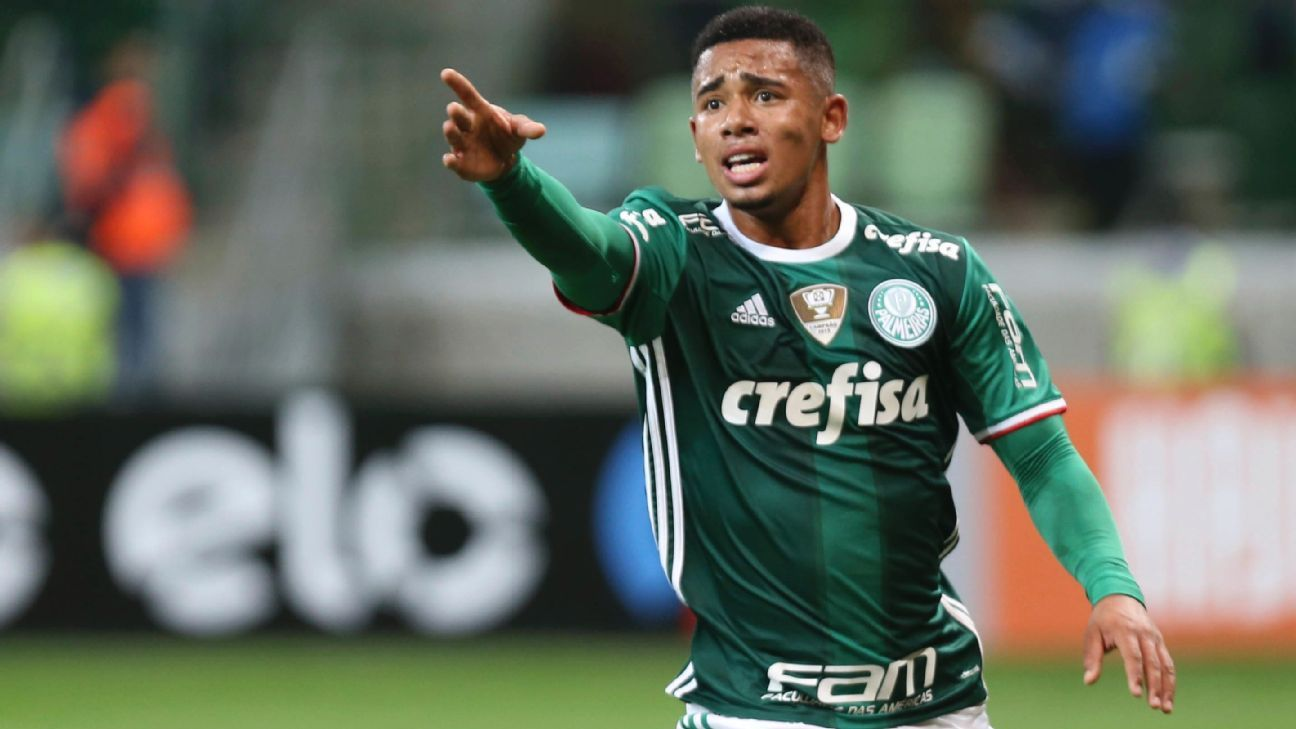 Palmeiras striker Gabriel Jesus