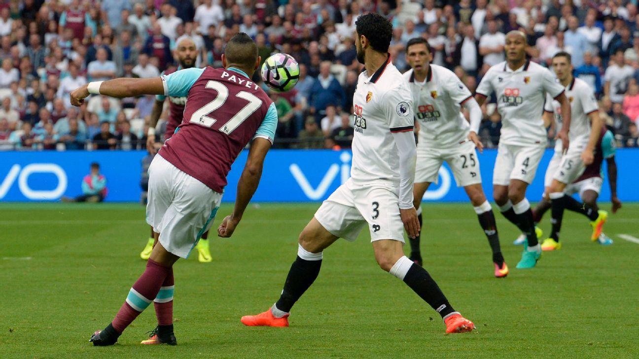 West Ham s Dimitri Payet defends rabona against Watford ESPN FC