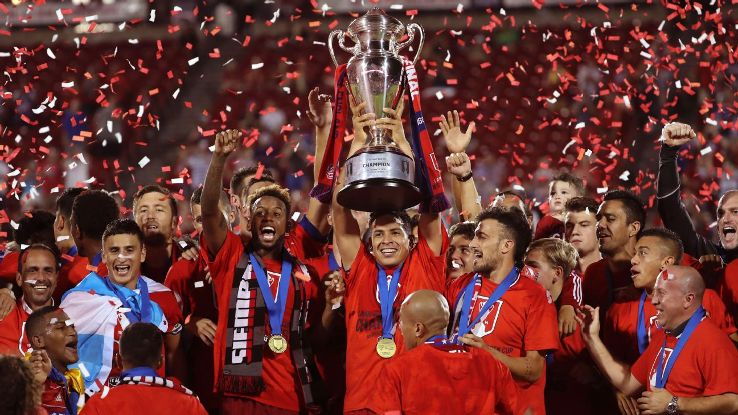 FC Dallas celebrates U.S. Open Cup win