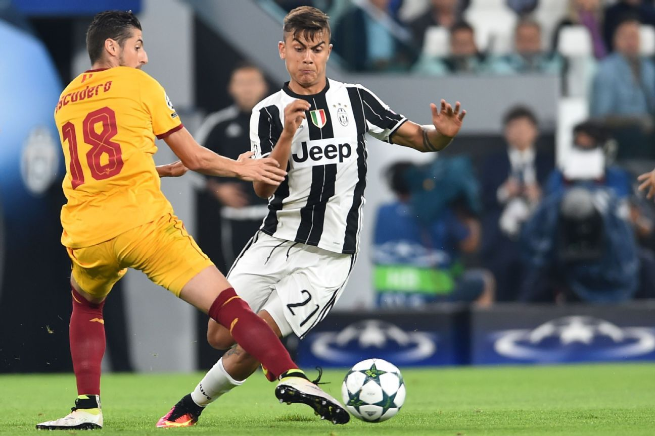 Juventus Dybala action vs Sevilla 160914