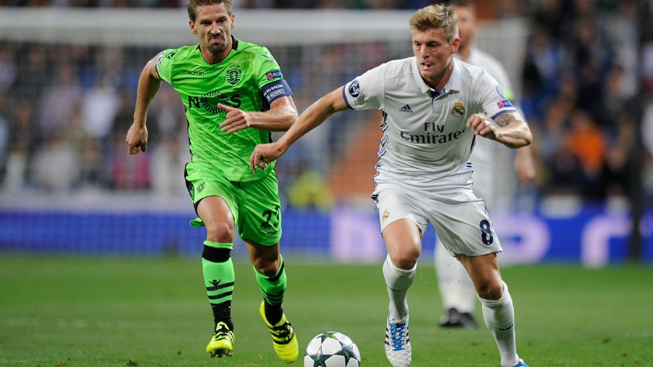 Kroos action Real vs Sporting 160914