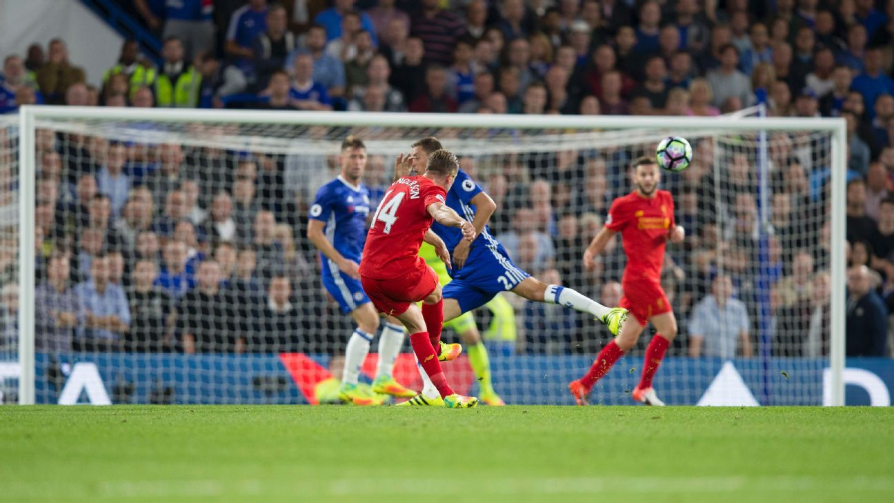 Jordan Henderson took aim a long way from goal to double the lead.