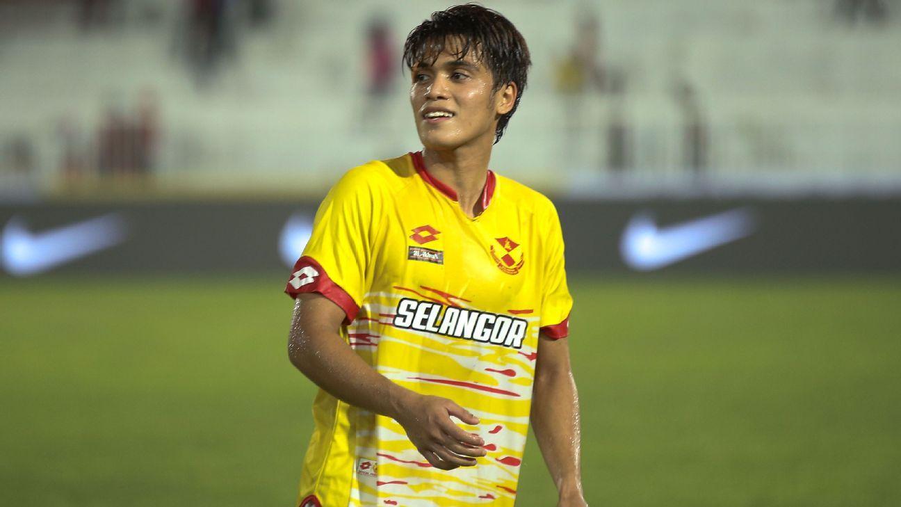 Selangor forward Nazmi Faiz