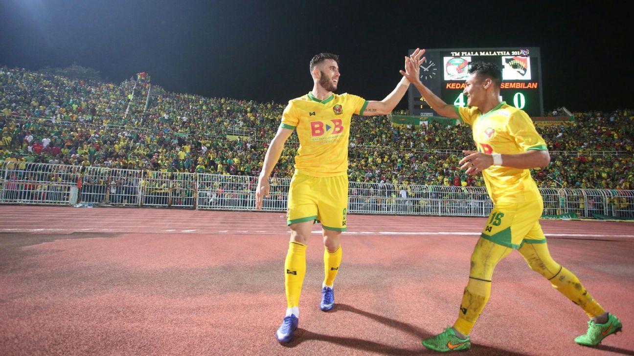 Kedah forward Thiago Augusto celebrates