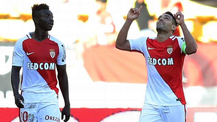 Radamel Falcao and Monaco are sitting atop the Ligue 1 table.