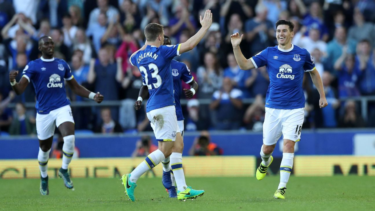 Gareth Barry was on target as Everton secured victory.