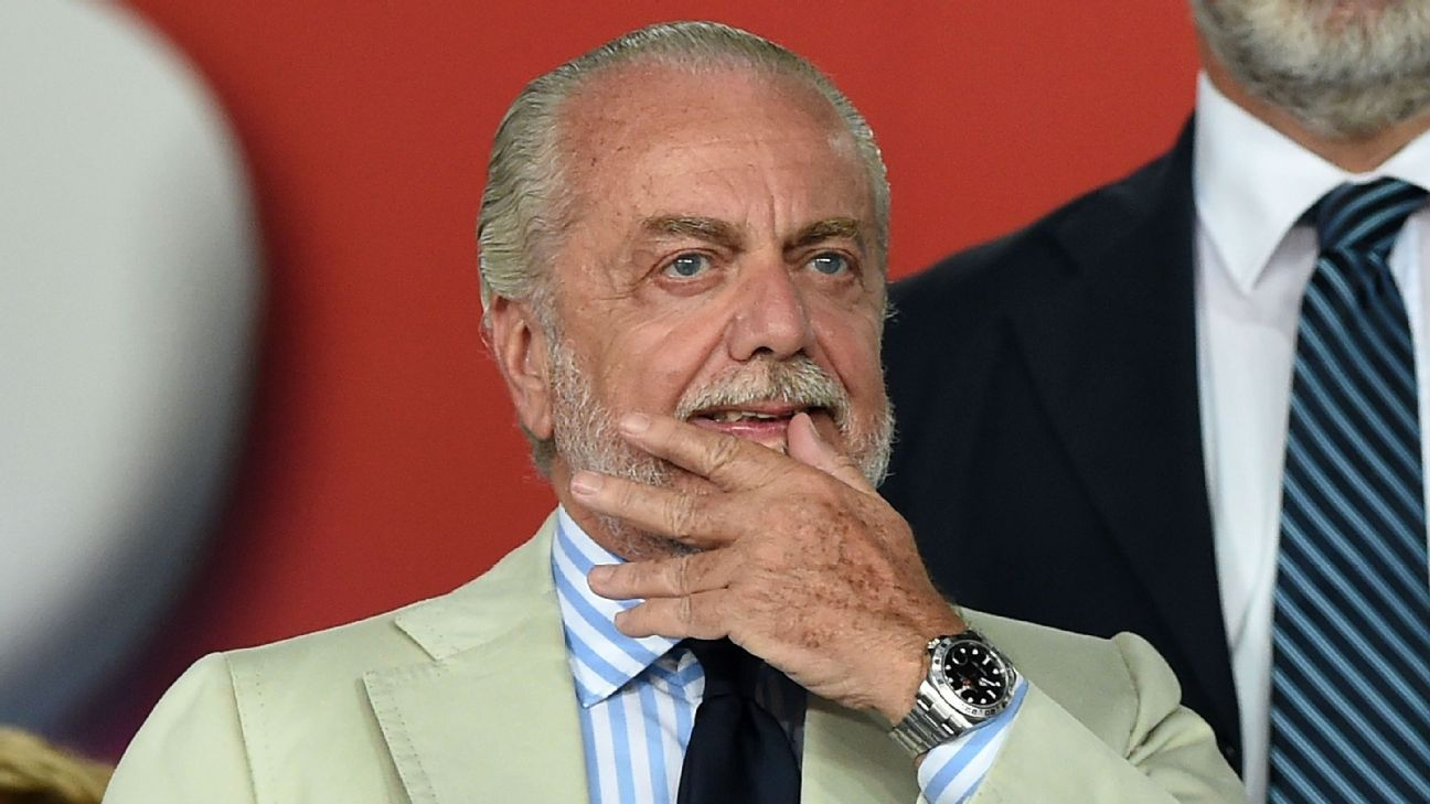 Napoli president Aurelio De Laurentiis is known for his candid handling of the press.