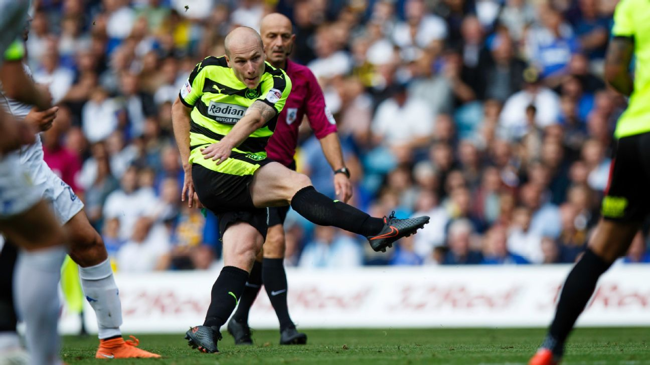 Huddersfield midfielder Aaron Mooy